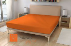 Froté prostěradlo č.15 oranžová