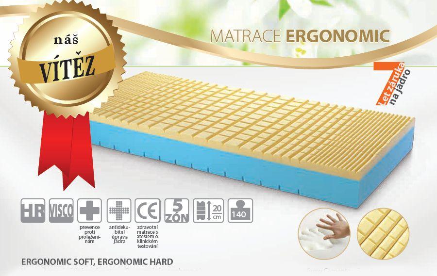 matrace ERGONOMIC hard + dárek dle výběru LB Bohemia