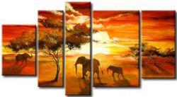 Obrazy Afrika - vícedílné