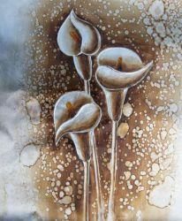 Růže, tulipány, kaly