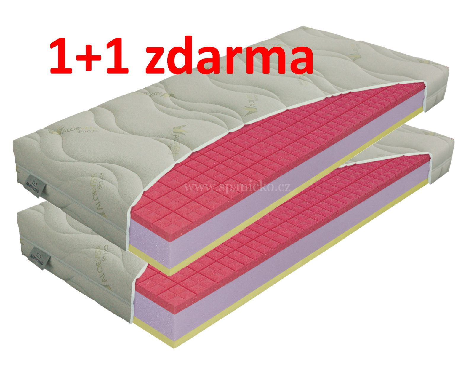 matrace ANTIBACTERIAL visco vakuo 18cm / 1+1 zdarma /+dárek MATERASSO