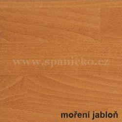 BMB - BUK - moření jabloň  - postel MARIKA s čelním výklopným lamelovým roštem