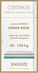 matrace DANIA ROSE + dárek SNOOZE