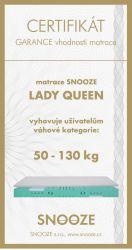 matrace LADY QUEEN + dárek SNOOZE