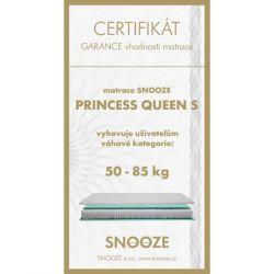 matrace PRINCESS QUEEN + dárek SNOOZE