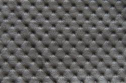 ECL  - koženka K3 tm. stříbrná  - postel NEVE s čalouněnými polštáři včetně nočních stolků