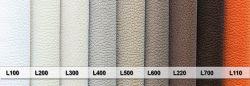 ECL - látky 1  - postel NEVE s čalouněnými polštáři včetně nočních stolků