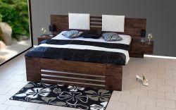 postel NEVE s čalouněnými polštáři včetně nočních stolků
