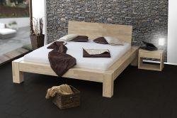 postel SONNO s dřevěným celým čelem