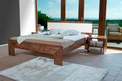 postel SPOSA s čalouněným čelem