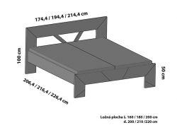 varianta - ST2  - postel SPOSA