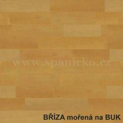 BMB - BŘÍZA - moření buk  - postel MARIKA s čelním výklopným lamelovým roštem