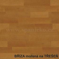 BMB - BŘÍZA - moření třešeň  - postel MARIKA s čelním výklopným lamelovým roštem