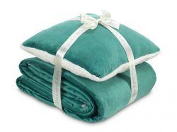 Hřejivá sada Warm Hug smaragdově zelená