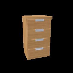 Komoda GABRIELA - 4 malé zásuvky