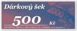 Dárkový šek - 500Kč