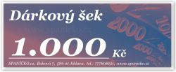 Dárkový šek - 1.000Kč