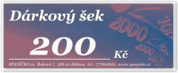 Dárkový šek - 200Kč