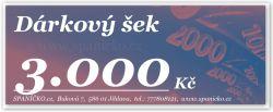 Dárkový šek - 3.000Kč