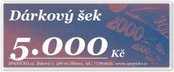 Dárkový šek - 5.000Kč