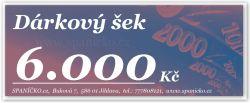 Dárkový šek - 6.000Kč