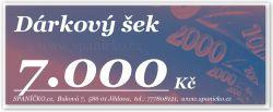 Dárkový šek - 7.000Kč