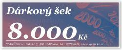 Dárkový šek - 8.000Kč