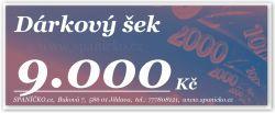 Dárkový šek - 9.000Kč