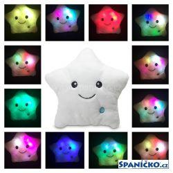 Dětský polštář Warm Hug hvězda - svítí a mění barvu