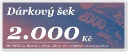 Dárkový šek - 2.000Kč
