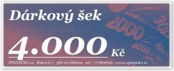 Dárkový šek - 4.000Kč