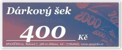 Dárkový šek - 400Kč