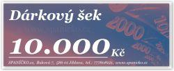 Dárkový šek - 10.000Kč