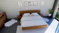 Masivní dubová postel NEVE ECLISSI