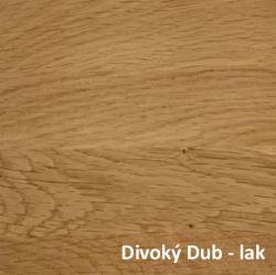 Divoký Dub přírodní - lak  - Noční stolek DIANA