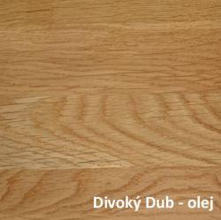 Divoký Dub přírodní - olej  - Noční stolek DIANA