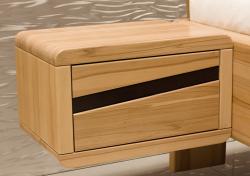 Noční stolek ANGELA s pruhem | š.50 x v.30 x hl.36cm / BUK masiv , š.50 x v.30 x hl.36cm / jádrový BUK masiv