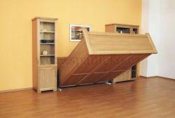 Obývací stěna s postelí KLASIK v dubu
