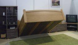 sklopná postel KLASIK - dub v kombinaci s laminem