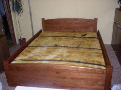sklopná postel KLASIK - smrk - s ratanovou výpní