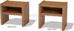 GASTON noční stolek bez zásuvky