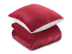 Sada Warm Hug 2021 červená | přikrývka klasická (130 x 190cm)  + polštář 40 x 40cm, přikrývka rodinná (200 x 200cm)  + polštář 40 x 40
