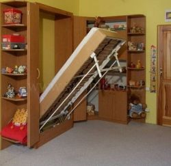 sklopná postel SKL 1 VR vč. skříně - jednolůžko