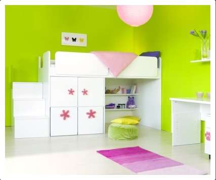 Postel zvýšená bez odkladové police vč. skříňky - dveře vlevo myhm