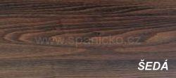 dpv-ŠEDÁ  - noční stolek masiv, dýha
