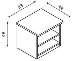 Noční stolek DALILA otevřený