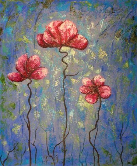 Obraz - Červené květy V.