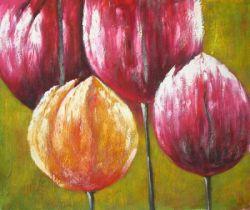 Obraz - Čtyři tulipány