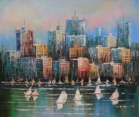 Obraz - Pohled na město