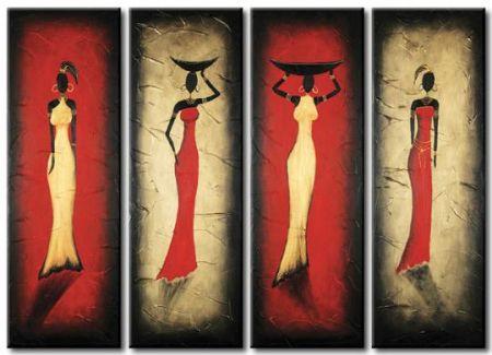 Obrazový set - Čtyři Afričanky